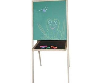 Pre-School Art Easel, Childrens Easel, Kids Easel, Chalkboard Easel, Wooden Easel