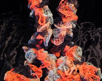 Neon Frill Orange Ruffle Scarf