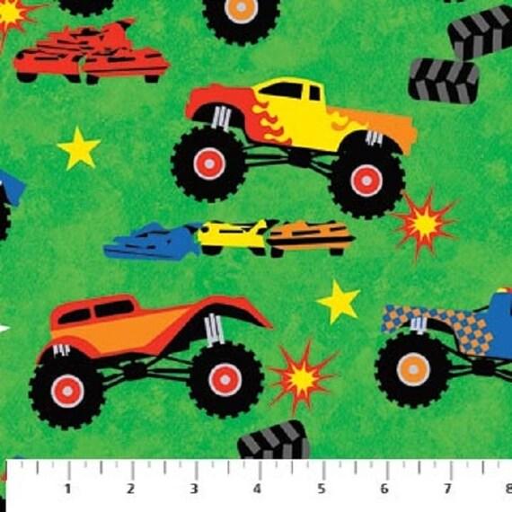 Eob monster truck madness 20222 71 big monster trucks for Monster truck fabric