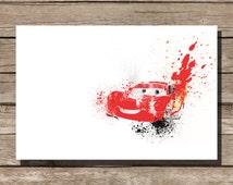 Disney poster Pixar poster Cars movie poster art print disney poster movie art fan art pixar movie poster