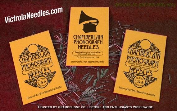 Victrola NEEDLES for Vintage Gramophone Phonograph 78rpm Shellac Records USA polished metal ETSY