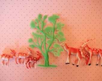 Retro Deer Cake Topper Set