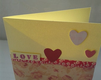 """SALE! Valentine's day card with hearts a """"Love"""" sentiment"""