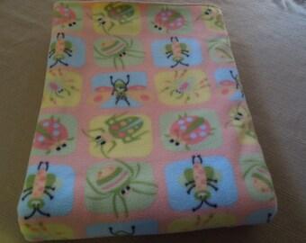 Cute Bug Handmade Fleece Blanket, 36 x 60