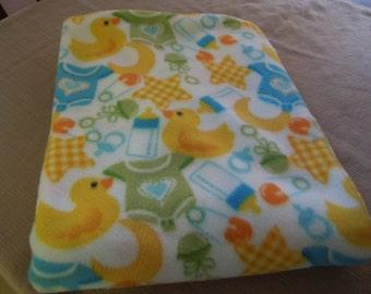 Rubber Ducky Children's Fleece Blanket, 36 x 60