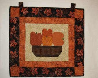 Pumpkin Basket  Wall Hanging