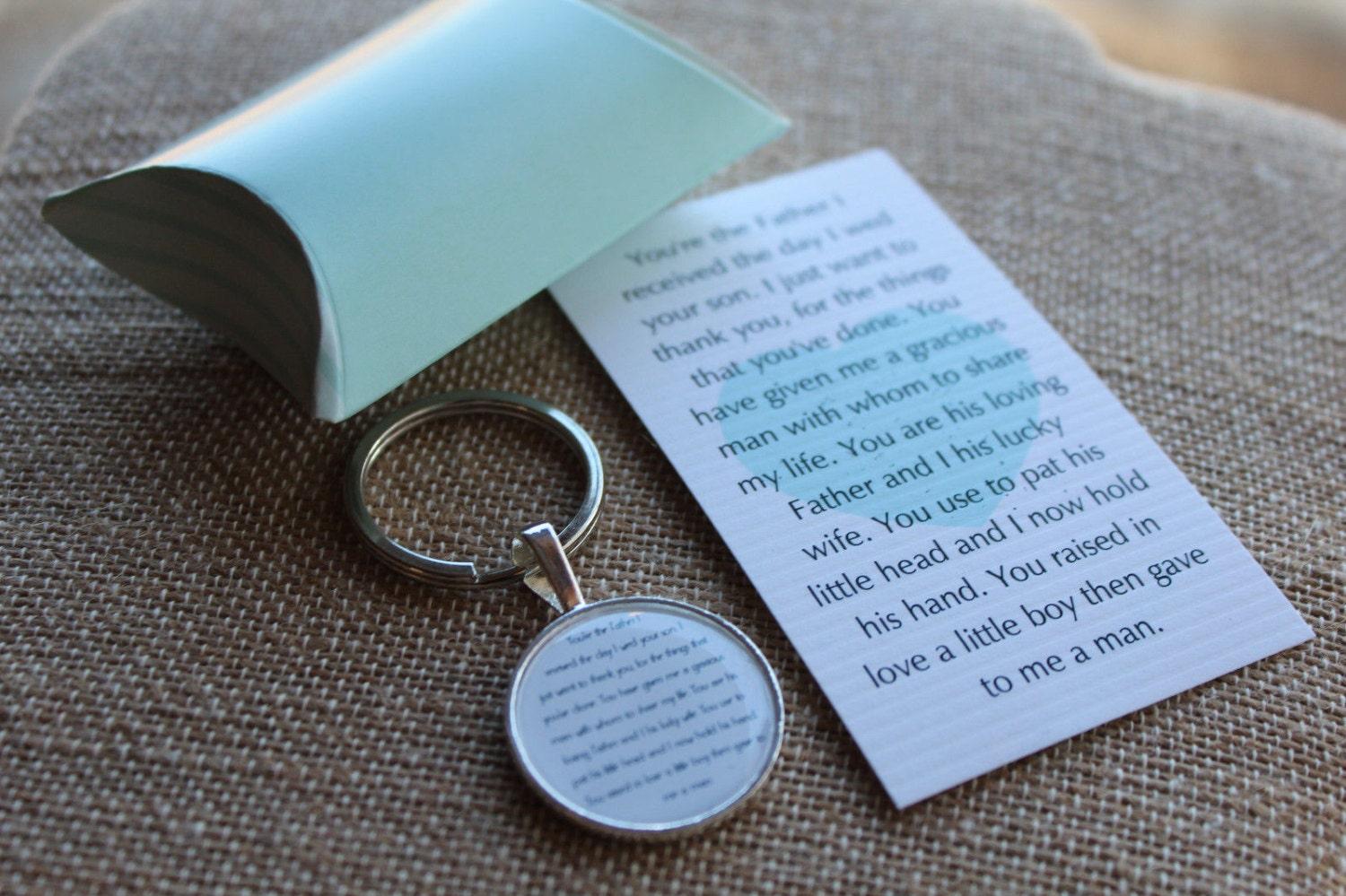 Sweet Poem Father In Law Key Chain Set Fil Thank You Wedding Gift