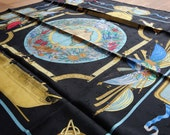 Vintage Hermès Le Geographe Jacquard Seidentuch Tuch aus Seide silk scarf Design Sandra Laroche - Sammler Collectors