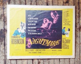 Nightmare - Vintage Film Noir Movie Poster