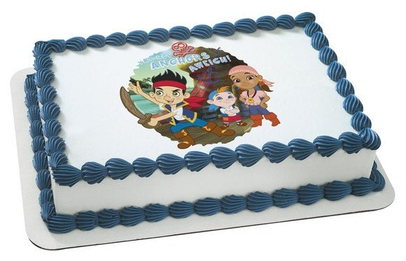Jake and the Neverland Pirates Edible Cake or by ...