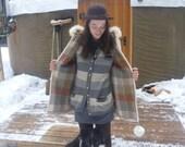 SALE Vnt Inuit Eskimo Virgin Wool parka jacket with Fur
