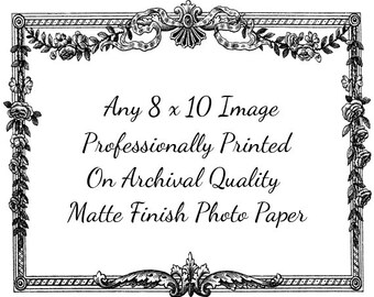 Print of Any Single 8 x 10 Image In The Shop