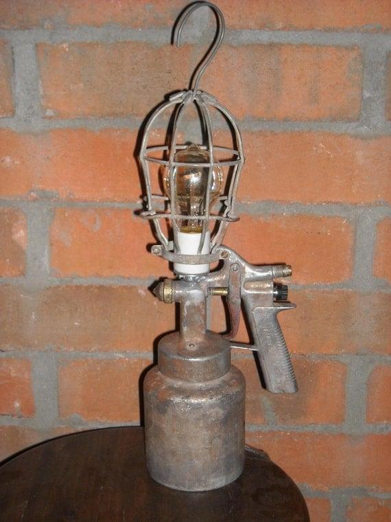 Vintage Craftsman Paint Gun Lamp