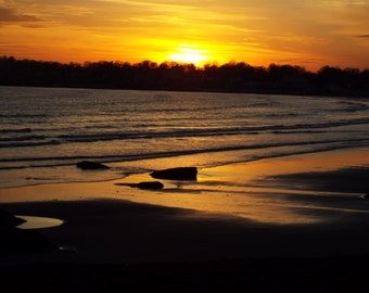 Sunset at Easton's Beach in Newport, R.I.