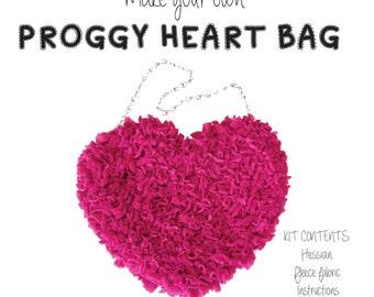 Proggy® Pink Heart Rag Rug Bag Kit