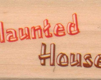 Sugarloaf Products, Inc. HAUNTED HOUSE Halloween Rubber Stamp