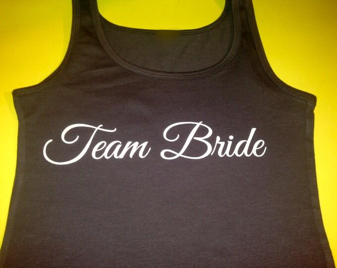 Team Bride Tank Top. Team Bride Shirts. Bridesmaid Shirt. Bridal Party Shirts. Wedding shirts. Purple, pink, yellow, royal blue, teal, green