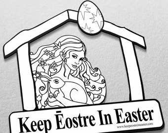 Keep Eostre in Easter Car Magnet [NONPROFIT Fundraiser - 100% of Proceeds are DONATED to FFRF] - Free shipping!