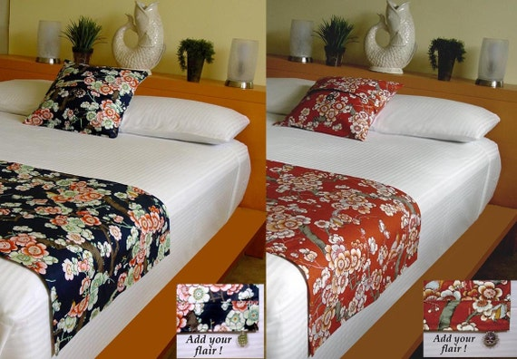 clearance definni bed scarf runner pillow cover set japanese