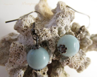 2964 - Earrings Amazonite