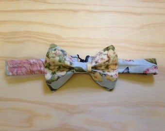 Spring birds and flowers bowtie