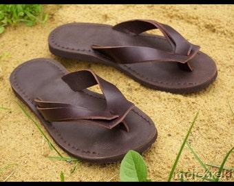 Leather flip-flops TREK Japan