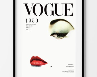 Vintage Vogue Cover Poster Print or Stretched Canvas Print Wall Art