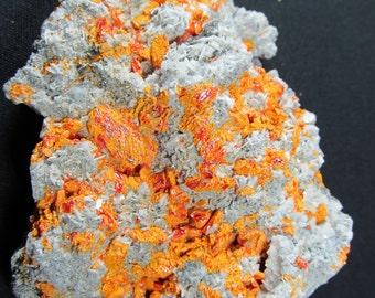 Realgar and Orpiment, Palmo Mine, Peru - Small Cabinet Specimen
