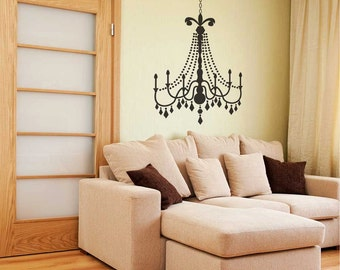 Medium Glamour Chandelier wall decal - Wall Chandelier, Chandelier wall décor, Chandelier wall art, Chandelier decals, Wall Chandeliers.
