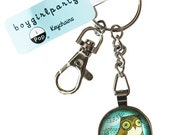 Keychain - OWL KEYCHAIN Owl Key chain - Owl Key ring - Woodland Animal Keychain - Friendship Gift Keyring