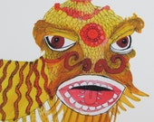 A4 PRINT Yellow Dragon