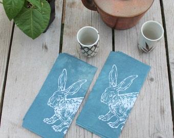 pair of rabbit napkins