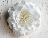 Wedding Hair Piece, Bridal Hair Clip, Wedding Accessories, Ivory Floral Headpiece, Bridal Hair Flower - Style RF101
