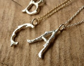 Branch Initial Necklace