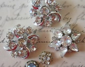 Vintage Rhinestone Jewelry Pin Lot for Crafting
