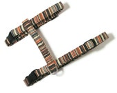 Cat Harness - Earthy Stripes - Cute, Soft and Fancy for Cats and Kittens
