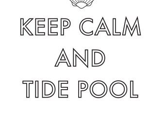 Keep Calm and Tide Pool Mini Comic -- Free Shipping in the US
