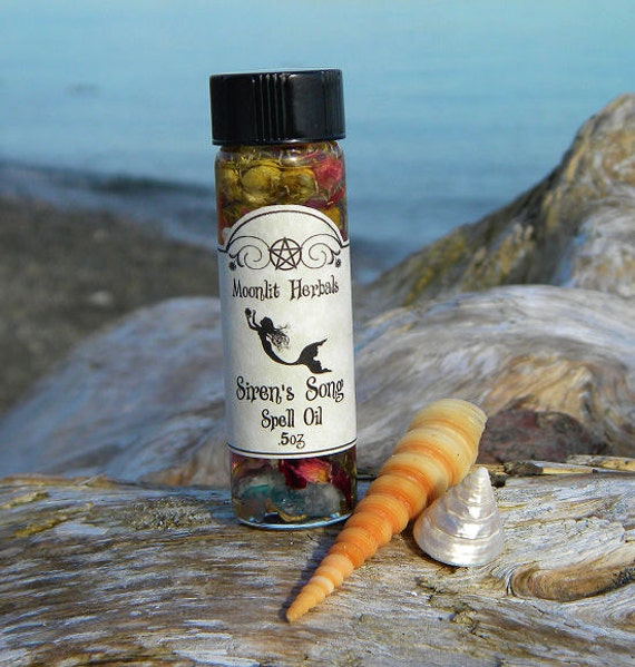 Siren's Song Spell Oil - Water Element, Sea Witch, Yemaya, Amphitrite, Nerus, Poseidon, Lir, God, Goddess, Pagan, Wicca, Anointing Oil