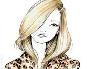 Kate Moss-Fashion Illustration-Kate Moss Illustration-Kate Moss Sketch-Fashion Print-Fashion Decor-Fashion Model-Kate Moss Print-BrookeHagel