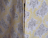Dog Crate Cover - Damask Cover - Yellow Cover - Designer Crate Cover - YOU Choose Fabric - Madison Sunny Yellow/Taupe/Natural shown