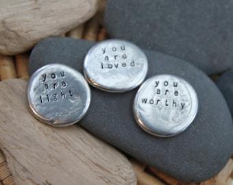 "soul mantra ""you are"" pocket talisman set"