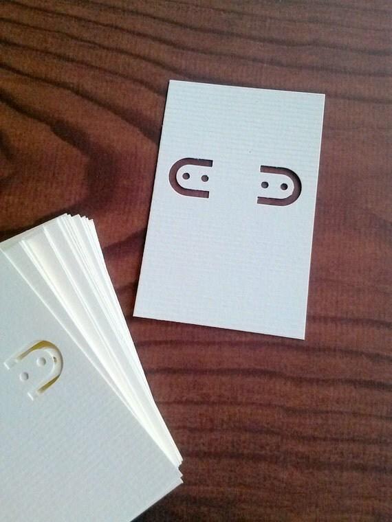 30 Earring cards, soft white, kraft, ivory, lever back earring cards
