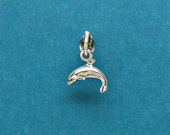 Dolphin Sterling Silver Sea Life Mini Charm for Bracelet or Anklet no. 1771