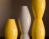 Modern Vase family in yellow and gray