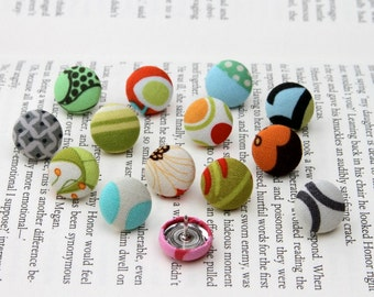 Office Supplies - Thumbtacks, Pushpins, Fabric Covered Button - Mixed Assortment of 14 (h)