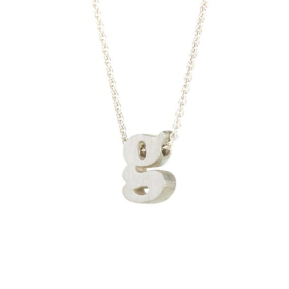 g - block letter initial necklace