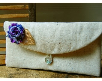 purple gray clutch burlap purse wedding rustic blue,black,gold gray shabby rose purse Personalize Bridesmaid party gift MakeUp
