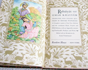 "Poetry Book ""Rubaiyat Of Omar Khayyam"" 1947  Book of the Month Club"