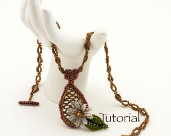 Seed Bead Necklace Pattern She Loves Me Digital Download