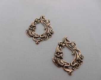 Chandelier earring findings Calla Lily floral Stamping Jewelry making jewelry finding anitque gold